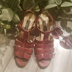 Cole Haan Brown Leather Open Toe Slingback Size 10
